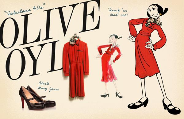 OLIVE SPREAD3 Olive Oyl ako znovuobjavená módna ikona