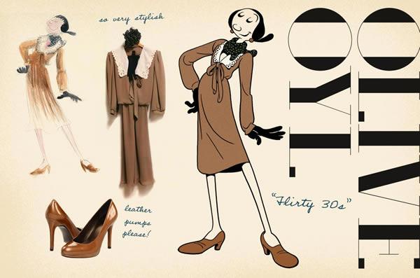 looks flirtythirty Olive Oyl ako znovuobjavená módna ikona