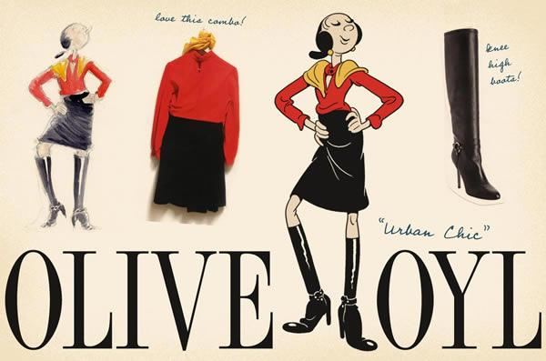 looks urbanchic Olive Oyl ako znovuobjavená módna ikona