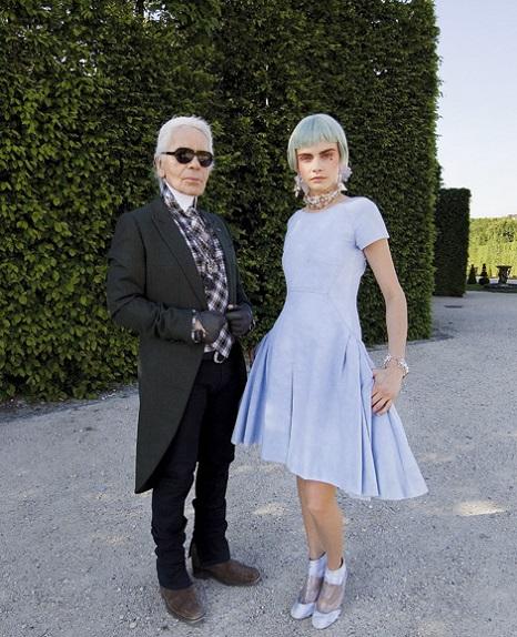 Karl Lagerfeld Cara Delevingne Cara a Karl, nerozlučná dvojica