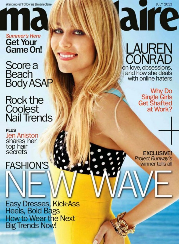 Lauren Conrad Marie Claire USA 1 752x1024 610x830 2013: Ktoré obálky predávali najviac?