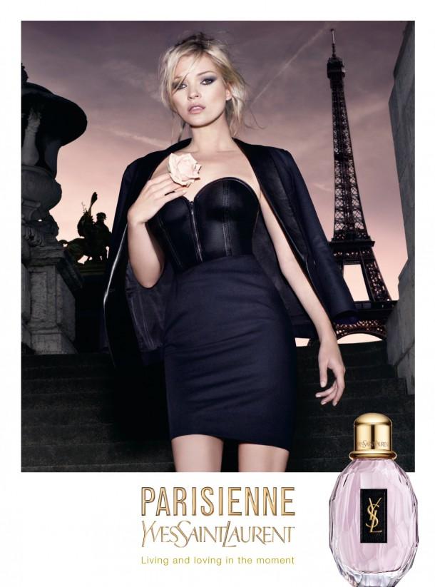 YSL Parisienne SP Ad 610x823 Najlepšie kampane Kate Moss