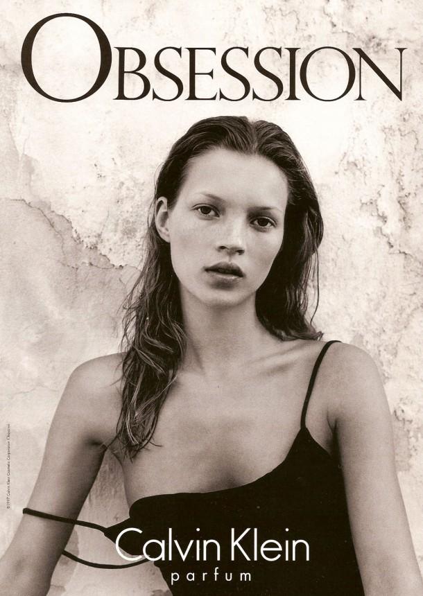 calvinklein obsession 19970102 katemoss 610x860 Najlepšie kampane Kate Moss