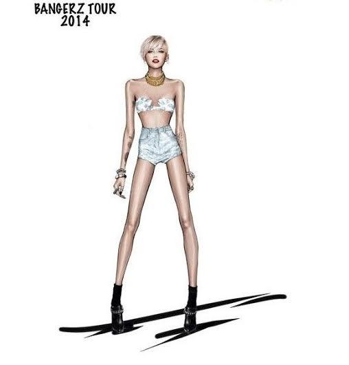 unnamed 2 Miley Cyrus a jej kostýmy od Roberta Cavalliho