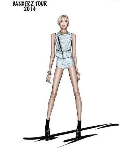unnamed 3 Miley Cyrus a jej kostýmy od Roberta Cavalliho