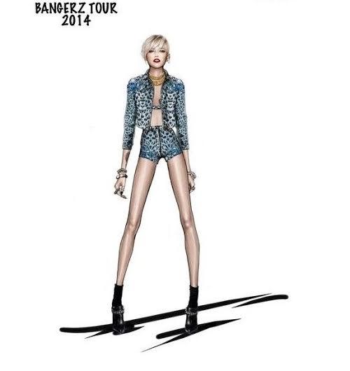 unnamed 4 Miley Cyrus a jej kostýmy od Roberta Cavalliho