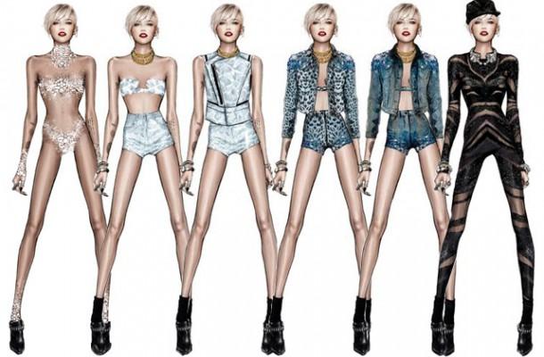 unnamed 610x400 Miley Cyrus a jej kostýmy od Roberta Cavalliho
