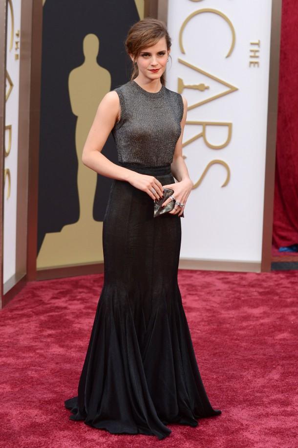 Emma Watson 1 610x916 Najlepšie a najhoršie outfity týždňa /Oscary 2014/
