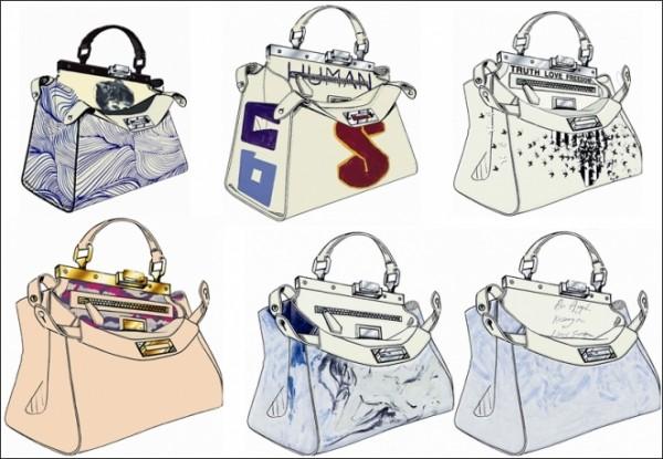 Fendi Peekaboo Bag the Kids Company Charity Auction 600x415 Cara, Adele a Gwyneth navrhujú pre Fendi