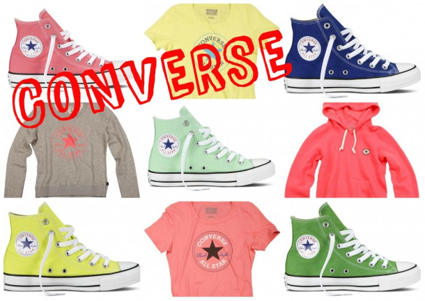 collage1 610x433 STAJL tip: štýlové tenisky Converse v žiarivých farbách na leto