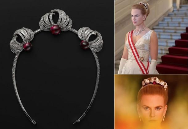Cartier jewelry Princess Grace Kelly tiara main 610x419 Kostýmy v Grace   Kňažnej z Monaka