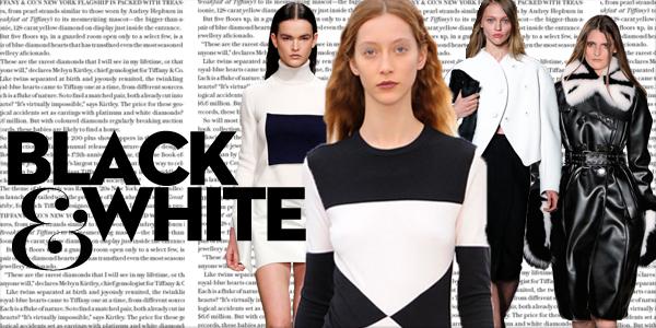 Fall Fashion 2013 Trend Black and White1 Trendy na leto 2014: čiernobiela (časť 1.)