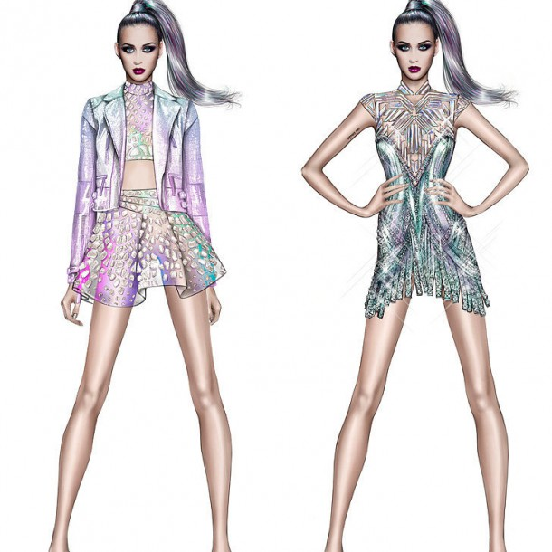 Designer Tour Costumes 610x610 Turné Katy Perry je prezentáciou dizajnérskych kostýmov