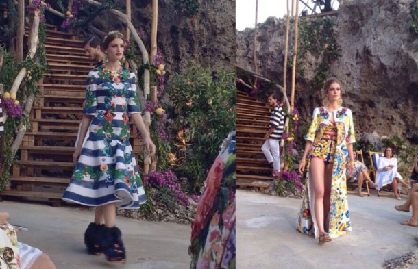 Dolce moda 610x393 Dolce & Gabbana: Haute Couture na slnečnom ostrove Capri