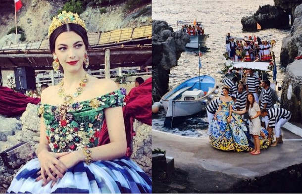 Dolce4 610x392 Dolce & Gabbana: Haute Couture na slnečnom ostrove Capri