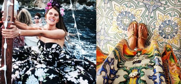 annadellorusso 610x283 Dolce & Gabbana: Haute Couture na slnečnom ostrove Capri