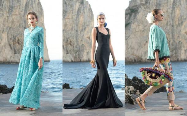 catwalk2 610x379 Dolce & Gabbana: Haute Couture na slnečnom ostrove Capri
