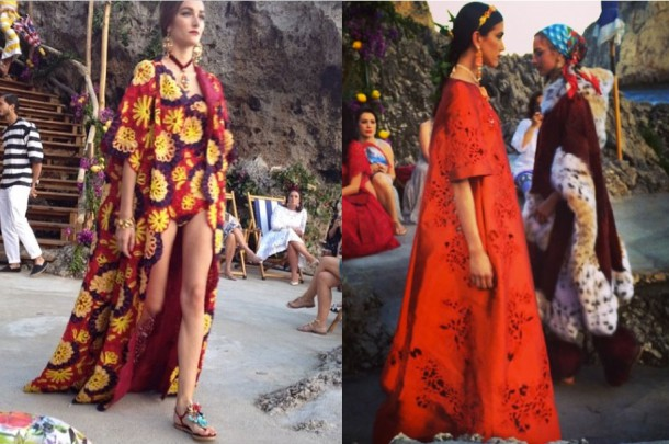 dolce and gabbana 610x405 Dolce & Gabbana: Haute Couture na slnečnom ostrove Capri