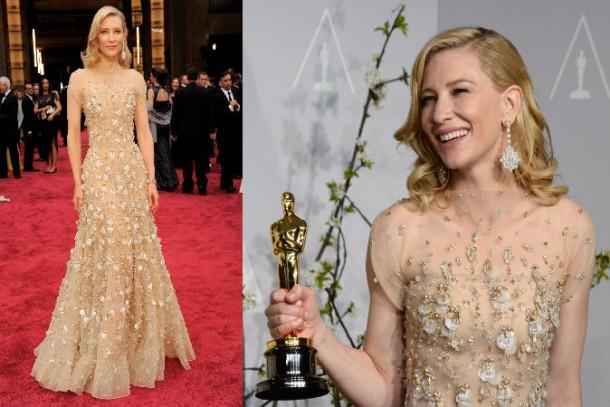 Cate 610x407 Najdrahšie šaty a šperky na Oscaroch