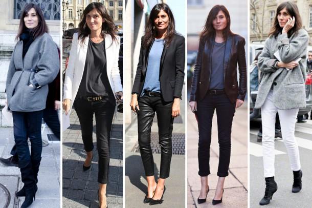 Street style Emmanuelle Alt best looks 610x406 Uniformy najvplyvnejších ľudí v móde