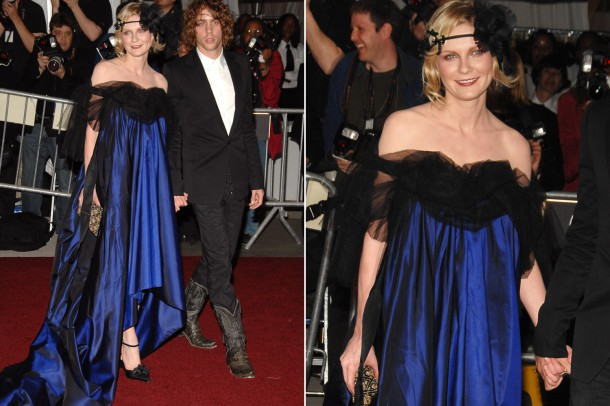 kirstendunst copy 610x406 Najhoršie šaty na Met Ball