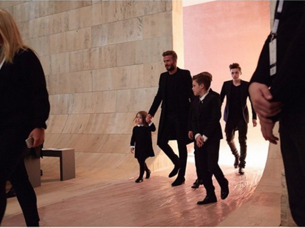 David Beckham 610x457 Fashionistka Harper Beckham