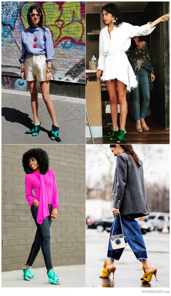 style bloggers no 21 ronny knotted satin mules 579x1000 Trend sezóny: topánky MULES
