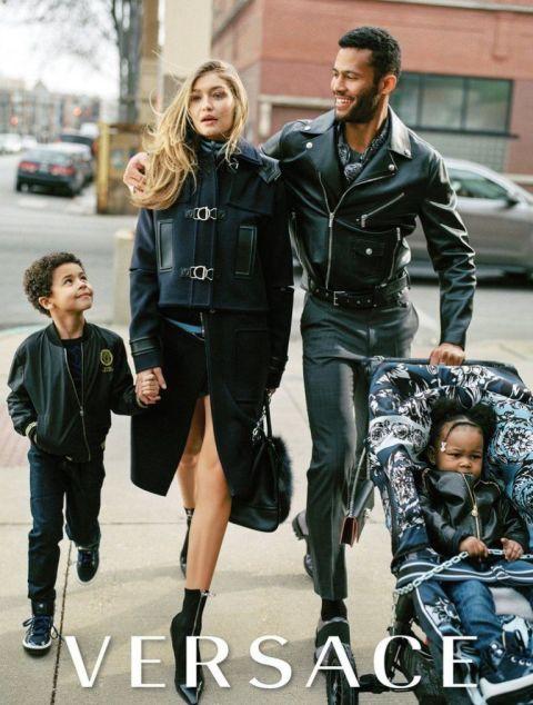 versace gigi hadid Kampane Fall 2016