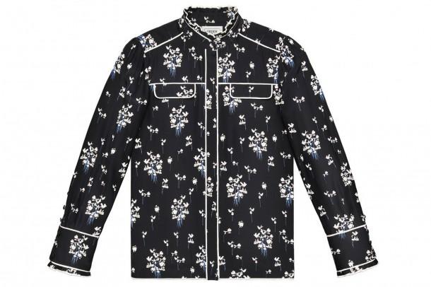 Erdem HM Black Floral Blouse 610x406 Spolupráca roka: H&M a ERDEM
