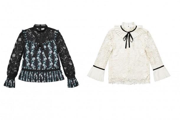Erdem HM Lace Blouses 610x406 Spolupráca roka: H&M a ERDEM