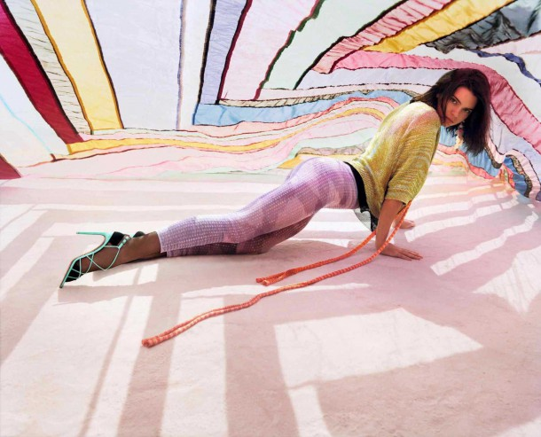Kendall Jenner in Missoni Spring Summer Campaign 2 610x493 Kendall Jenner pre Missoni