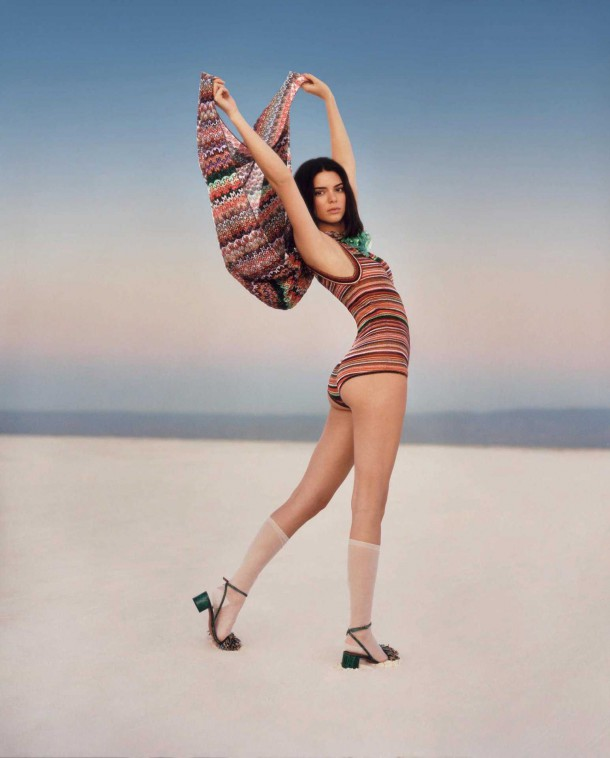 Kendall Jenner in Missoni Spring Summer Campaign 4 610x758 Kendall Jenner pre Missoni