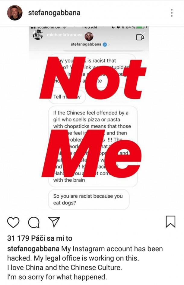 DolceGabbana TheGreatShow hack 610x943 Dolce & Gabbana označili za rasistov a sexistov!