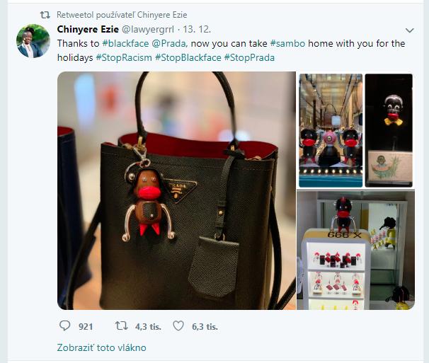 Prada Otto Toto twitter Prada obvinená z rasizmu! Vytvorila postavičky pripomínajúce opice!