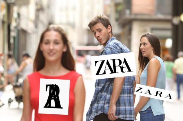meme zara2 610x406 Zara a jej nové logo. Originalita, alebo kopírovanie?