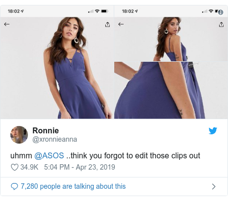 stajl asos 2 Ktorá značka používa štipce na šatách pri fotení?