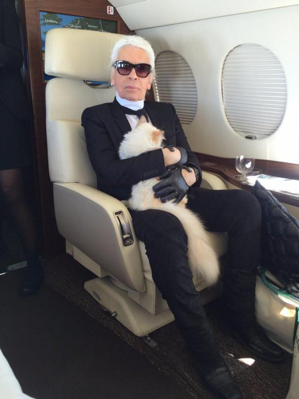 22052019 StajlSK Choupettee Lagerfeld 02 610x813 Štýlový život mačky Choupette Lagerfeld.